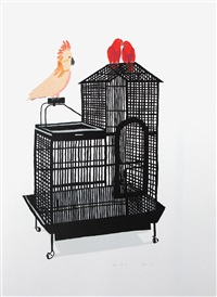 untitled (bird cage v) by jonas wood