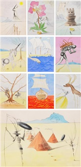 10 prints from the twelve tribes of israel by salvador dalí