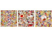 new day triptych (set of 3) by takashi murakami