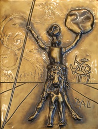 don quixote (bas relief sculpture) by salvador dalí