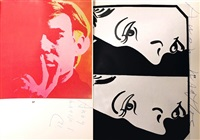 signed parke-bernet auction catalogue by andy warhol