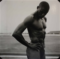 carl lewis, us olympic track, pearland high school, pearland, tx by annie leibovitz