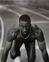 michael johnson, us olympic track, north atlanta high school, atlanta, ga by annie leibovitz