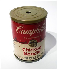 campbell's chicken noodle soup can pencil sharpener (signed) by andy warhol
