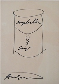 untitled (campbell's soup can) by andy warhol