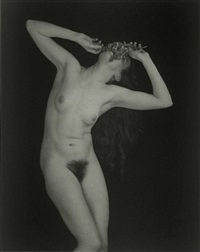 nude with lilacs by edward steichen