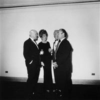 four people at a gallery opening, n.y.c. by diane arbus