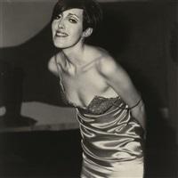 girl in a shiny dress, n.y.c. by diane arbus