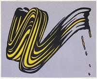 brushstroke by roy lichtenstein
