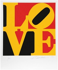 love (from the book of love) by robert indiana