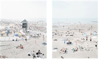 knokke beach (2 works) by massimo vitali