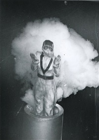 the human cannonball by weegee