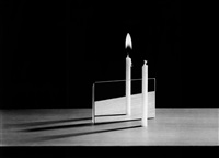 parallax (candles and mirror) from science by berenice abbott