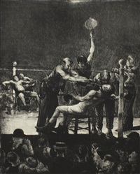 between rounds, large, first stone by george wesley bellows