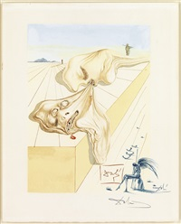 les hommes qui s'entre-dévorent (from divine comedy (hell, canto 30) by salvador dalí