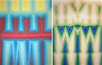 fold/slice topo i & ii (2 works) by tauba auerbach