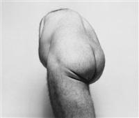 self portrait: back torso from below by john coplans