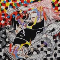 the whale watch shawl by frank stella