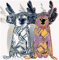 kachina dolls (from cowboys and indians) by andy warhol
