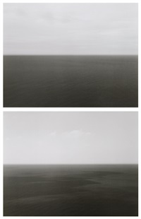 time exposed #364: bay of biscay, bakio (+ time exposed #369: marmara sea, silivli ; 2 works) by hiroshi sugimoto