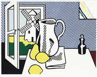still life with windmill (from six still lifes) by roy lichtenstein