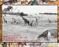 kaputi plains/ athi river at philip percival's 'potha estate', for the end of the game by peter beard