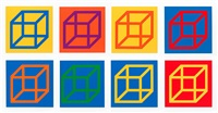 open cube in color on color: 8 prints by sol lewitt