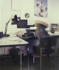 the office worker by william wegman