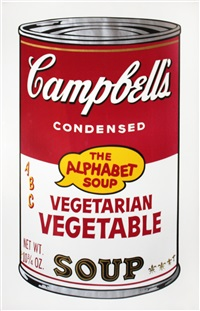 vegetarian vegetable (from campbell's soup ii) by andy warhol