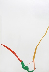 what red lines can do (one plate) by helen frankenthaler