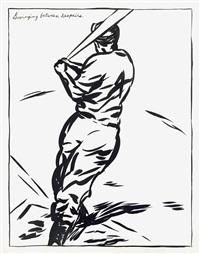 untitled (swinging between despairs) by raymond pettibon