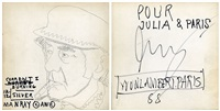 unique inscriptions on first edition book, 'man ray by andy warhol' by jean-michel basquiat