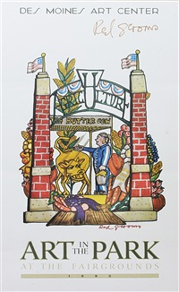 art in the park signed poster by red grooms