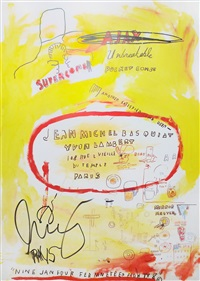 untitled (yvon lambert exhibition poster) by jean-michel basquiat