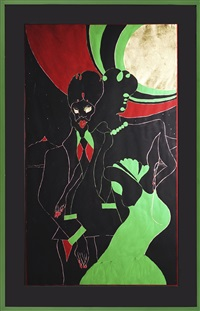 untitled (within reach series) by chris ofili
