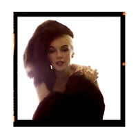 marilyn in fur hat, the lost sitting by bert stern