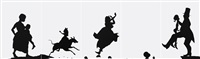 the means to an end...a shadow drama in five acts by kara walker