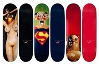 skate decks (set of 3) by george condo