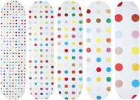 spot skate decks (set of 5) by damien hirst