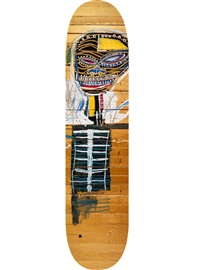 gold griot skate deck by jean-michel basquiat