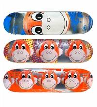 monkey train skate decks (set of 3) by jeff koons