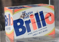 brillo box (signed) by andy warhol