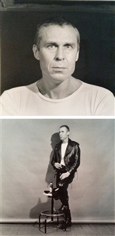 untitled (a german artist; 2 works) by robert mapplethorpe