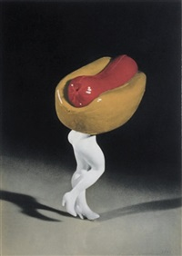 hot dog (from food clothing shelter) by laurie simmons