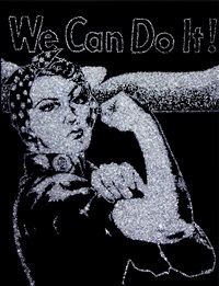 rosie the riveter (pictures of diamonds) by vik muniz