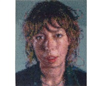 cecily/felt hand stamp by chuck close