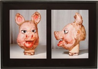 masks, front and side view (pig) by paul mccarthy