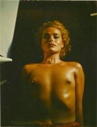 margaux hemingway (nude bust) by helmut newton