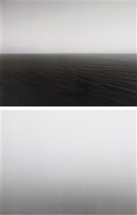 time exposed #312: pacific ocean, oregon (+ time exposed #317: atlantic ocean, cliffs of moher; 2 works) by hiroshi sugimoto