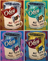 soup can (from the beautiful losers portfolio) (4 works) by shepard fairey